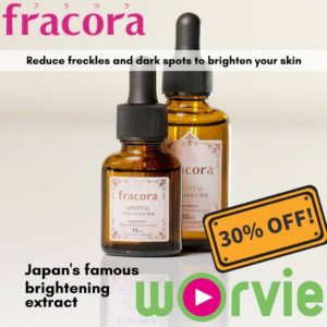 Japanese skincare products on white backhround
